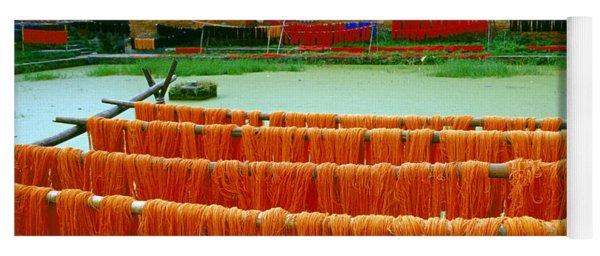 Orange Yarn Yoga Mat