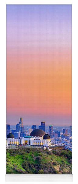 Orangesicle Griffith Observatory Yoga Mat