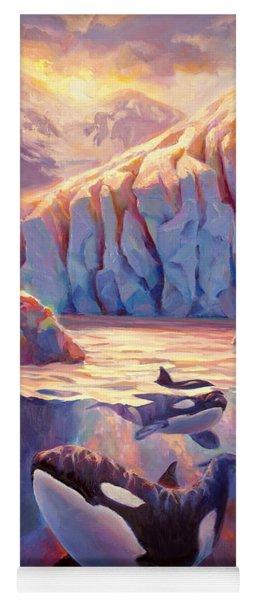 Orca Sunrise At The Glacier Yoga Mat