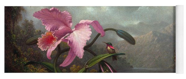 Orchid And Hummingbird Yoga Mat