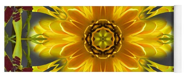 Orchid Flower Star Mandala Yoga Mat