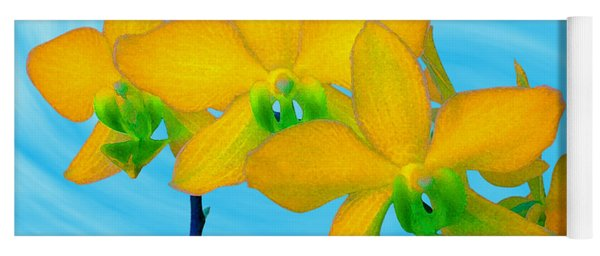 Orchid In Yellow Yoga Mat