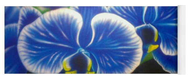 Orchid-strated Blues Yoga Mat