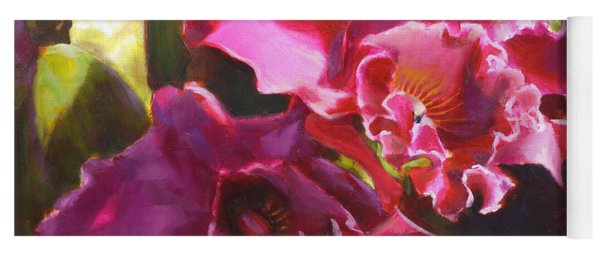 Orchids In Magenta Yoga Mat