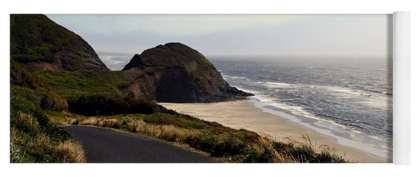Oregon Coast And Fog Yoga Mat