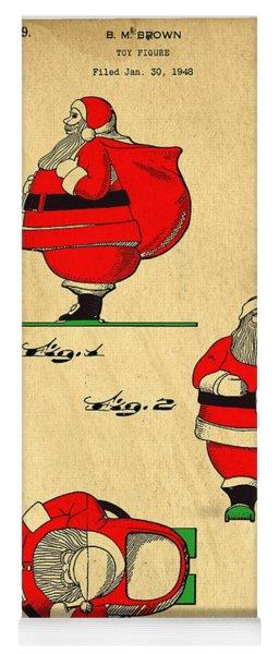 Original Patent For Santa On Skis Figure Yoga Mat