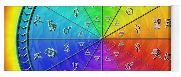Ouroboros Alchemical Zodiac Yoga Mat