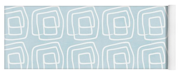 Out Of The Box Blue And White Pattern Yoga Mat