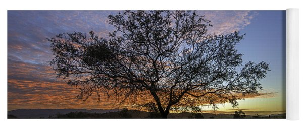 Yoga Mat featuring the photograph Outback Sunset  by Ray Warren