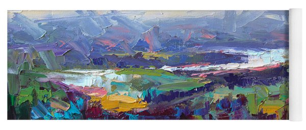 Overlook Abstract Landscape Yoga Mat