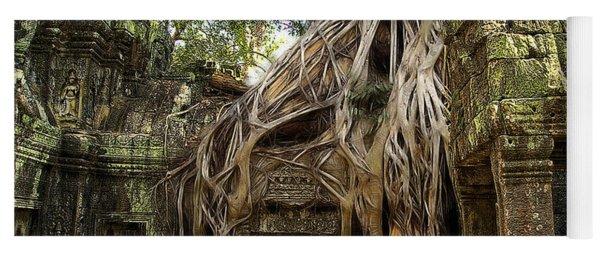Overgrown Jungle Temple Tree  Yoga Mat