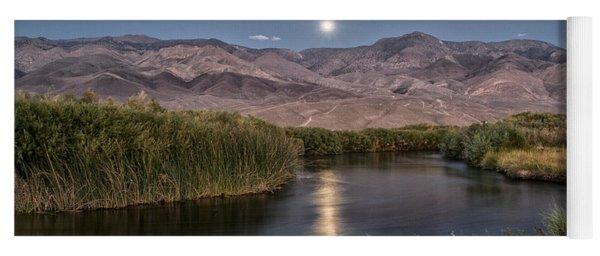 Owens River Moonrise Yoga Mat