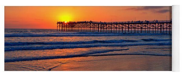Pacific Beach Pier - Ex Lrg - Widescreen Yoga Mat