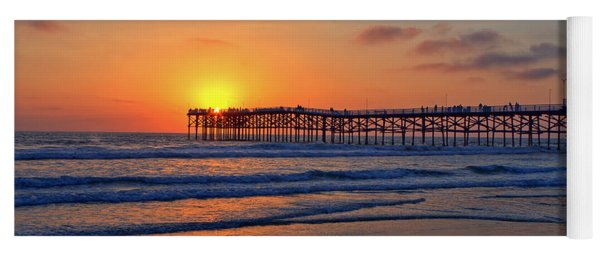 Pacific Beach Pier Sunset Yoga Mat