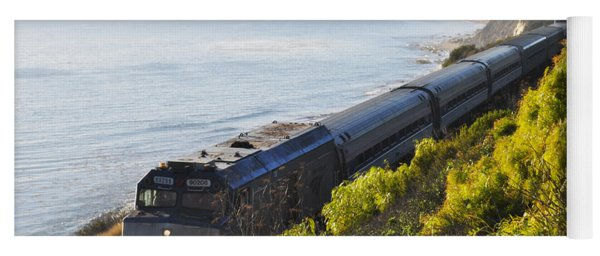 Pacific Surfliner Along The Central Coast Yoga Mat