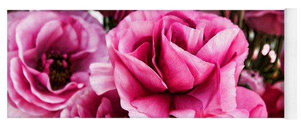 Paint Me Pink Ranunculus Flowers By Diana Sainz Yoga Mat