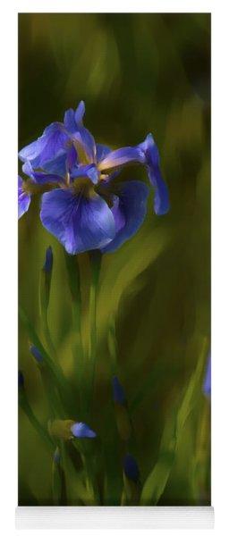 Painted Alaskan Wild Irises Yoga Mat