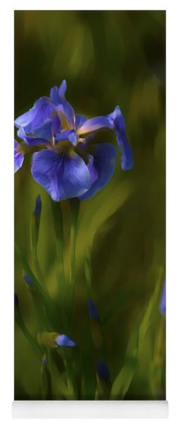 Painted Alaskan Wild Irises Yoga Mat