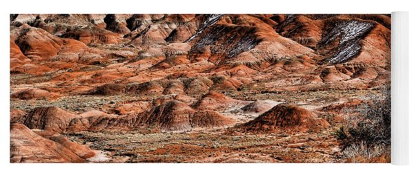 Painted Desert In Winter Yoga Mat