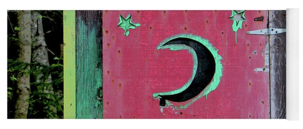 Painted Outhouse Yoga Mat