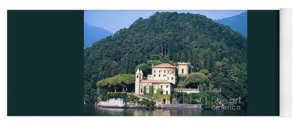 Palace At Lake Como Italy Yoga Mat