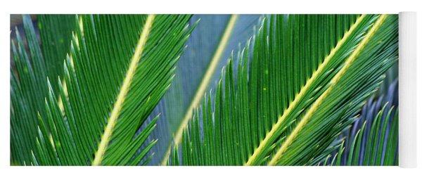 Palm Cycas Fronds Yoga Mat