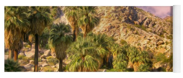 Palm Oasis In Late Afternoon Yoga Mat