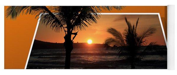 Palm Trees At Sunset Yoga Mat
