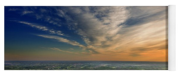 Yoga Mat featuring the photograph Palouse Sunset by Mary Jo Allen