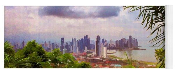 Panama City From Ancon Hill Yoga Mat