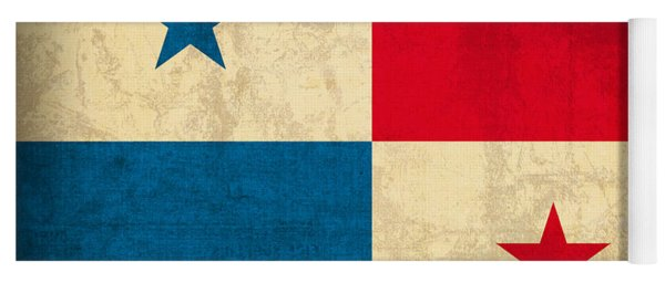 Panama Flag Vintage Distressed Finish Yoga Mat