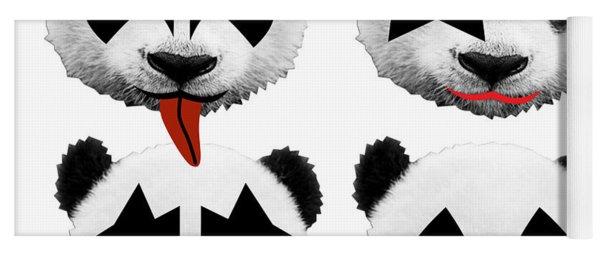 Panda Kiss  Yoga Mat