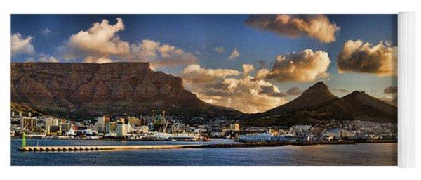 Panorama Cape Town Harbour At Sunset Yoga Mat