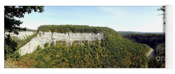 Panorama Of Cliff At Letchworth State Park Yoga Mat