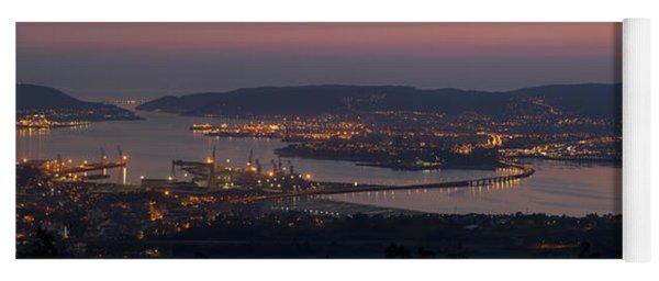 Panorama Of Ferrol From Mount Marraxon Galicia Spain Yoga Mat