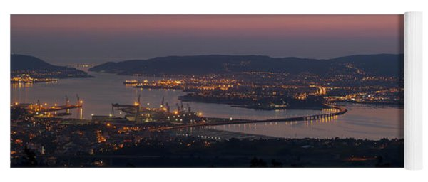 Panorama Of Ferrol From Mount Marraxon Galicia Spain Yoga Mat
