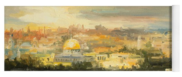 Panorama Of Jerusalem Yoga Mat