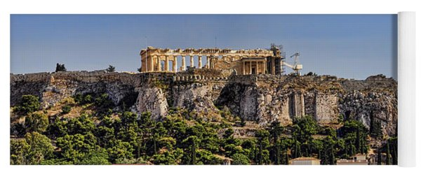 Panorama Of The Acropolis In Athens Yoga Mat