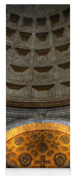 Pantheon Ceiling Detail Yoga Mat