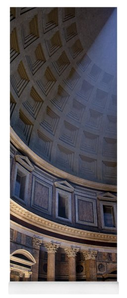 Yoga Mat featuring the photograph Pantheon Interior by Brian Jannsen