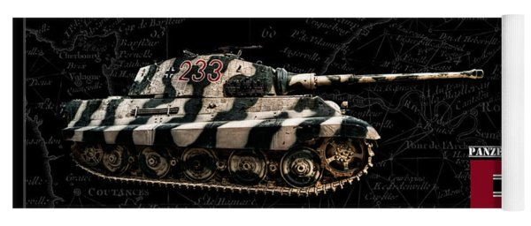 Panzer Tiger II Side Bk Bg Yoga Mat