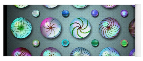 Paperweights And Marbles Yoga Mat