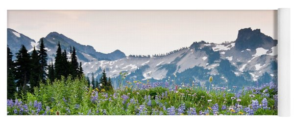 Paradise Meadows And The Tatoosh Range Yoga Mat