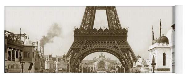 Paris Exposition Eiffel Tower Paris France 1900  Historical Photos Yoga Mat