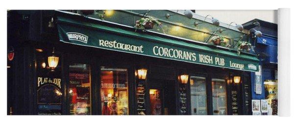 Paris Montmartre Irish Pubs Sidewalk Cafe Pub - Corcoran's Irish Pub Cafe Montmartre District Yoga Mat