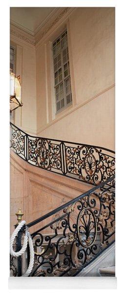 Paris Musee Rodin - Rodin Museum Grand Staircase Entryway Chandelier - Staircase At Rodin Museum Yoga Mat
