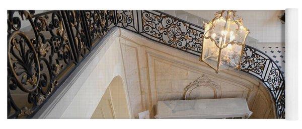 Paris Rodin Museum Staircase - Musee Rodin Staircase Chandelier Architecture - Rodin Museum Stairs Yoga Mat