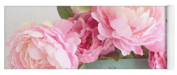Paris Peonies Shabby Chic Dreamy Pink Peonies Romantic Cottage Chic Paris Peonies Floral Art Yoga Mat