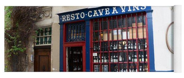 Paris Wine Shop Resto Cave A Vins - Paris Street Architecture Photography Yoga Mat