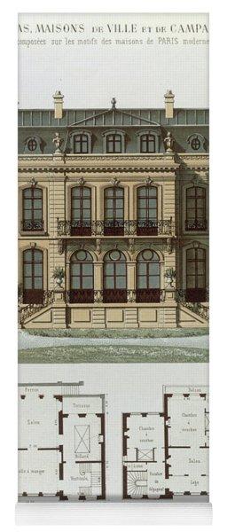 Parisian Suburban House And Plans Yoga Mat